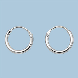 sterling silver small thin endless hoop earrings round. Black Bedroom Furniture Sets. Home Design Ideas